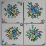 4 Ceramic Coasters in Cath Kidston Highgate Rose